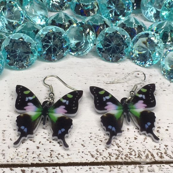 Jewelry - New Guinea Graphium Acrylic Butterfly Earrings